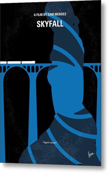 No277-007-2 My Skyfall Minimal Movie Poster Metal Print