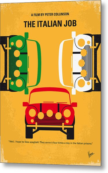No279 My The Italian Job Minimal Movie Poster Metal Print