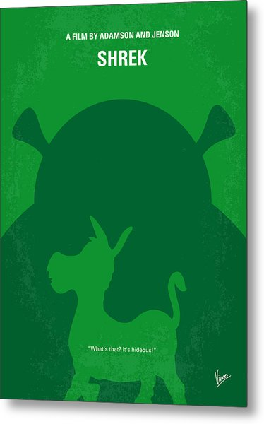 No280 My Shrek Minimal Movie Poster Metal Print