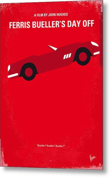 No292 My Ferris Bueller's Day Off Minimal Movie Poster Metal Print