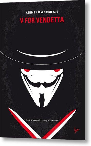 No319 My V For Vendetta Minimal Movie Poster Metal Print