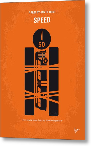 No330 My Speed Minimal Movie Poster Metal Print