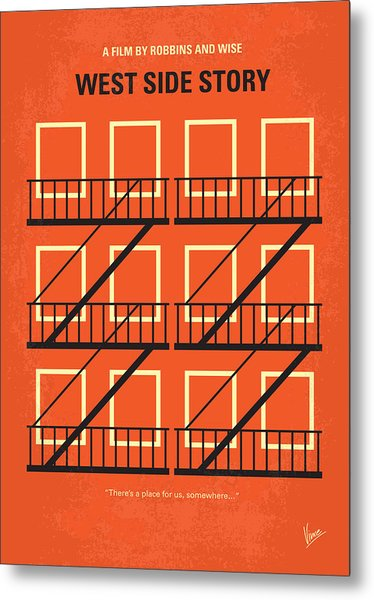 No387 My West Side Story Minimal Movie Poster Metal Print
