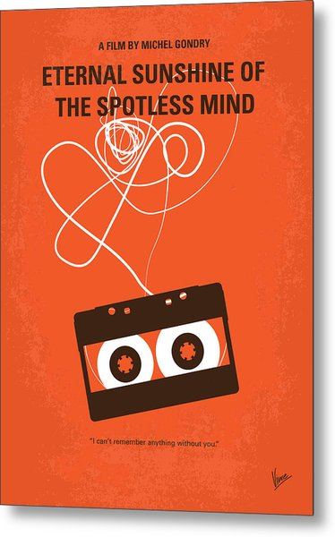 No384 My Eternal Sunshine Of The Spotless Mind Minimal Movie Pos Metal Print