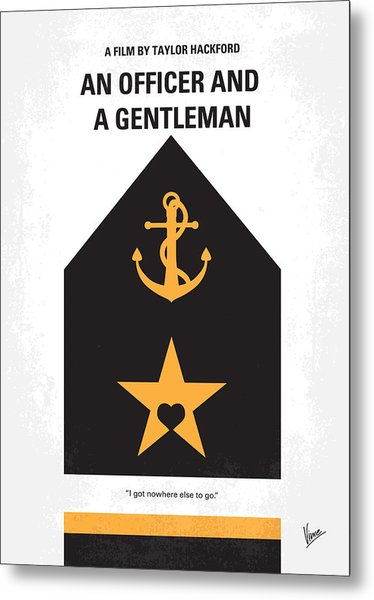 No388 My An Officer And A Gentleman Minimal Movie Poster Metal Print