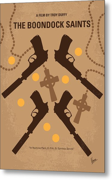 No419 My Boondock Saints Minimal Movie Poster Metal Print