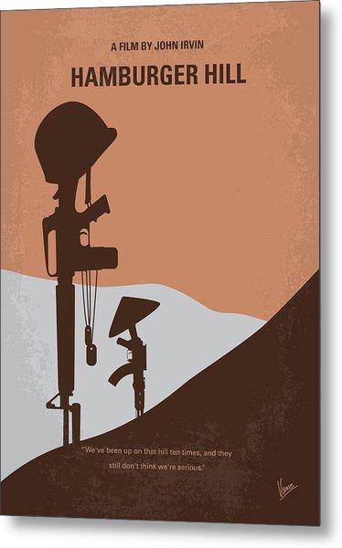 No428 My Hamburger Hill Minimal Movie Poster Metal Print