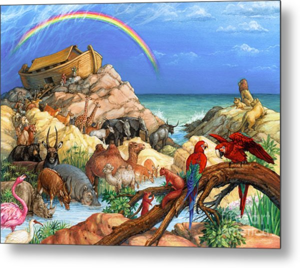 Noah And The Ark Metal Print