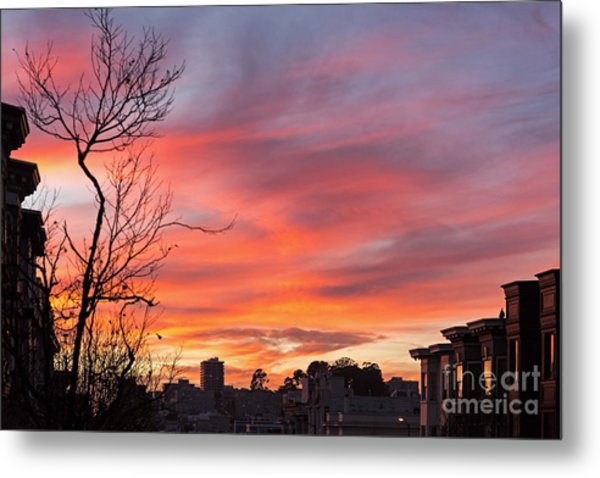 Metal Print featuring the photograph Nob Hill Sunset by Kate Brown