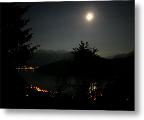 Nocturne In Switzerland Metal Print