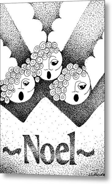 Noel Angels Metal Print by Joy Bradley