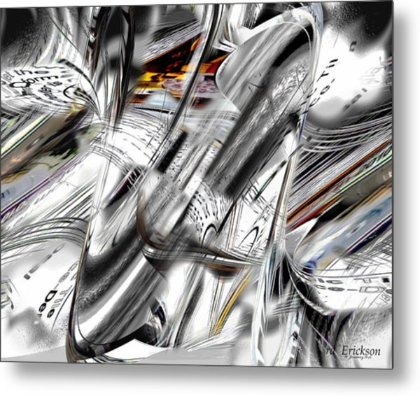 Nonobjective Words Metal Print by rd Erickson