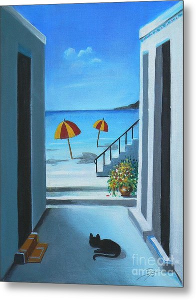 Noon At The Beach Metal Print