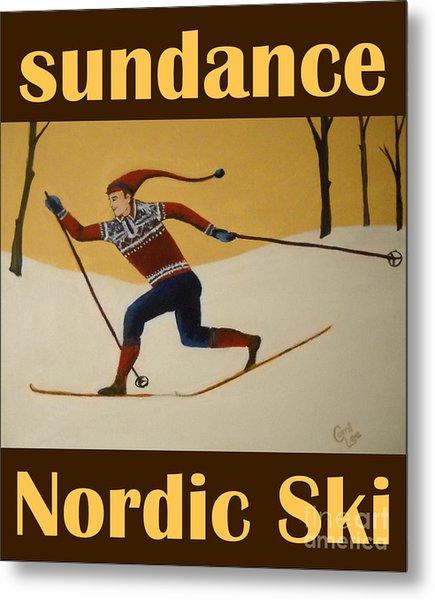 Nord Ski Poster Metal Print