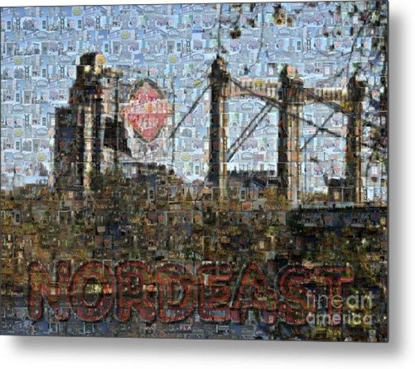 Nordeast Mosaic Metal Print