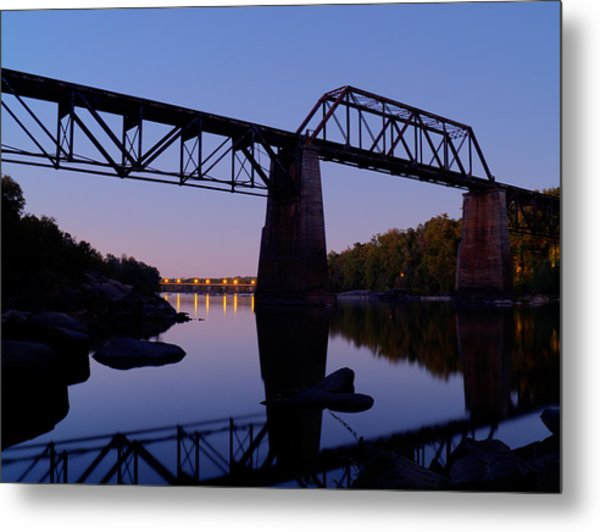 Twilight Crossing Metal Print