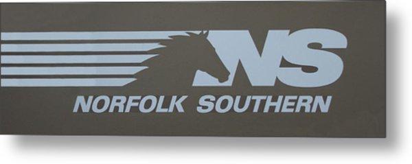 Norfolk Southern Railway Art Metal Print