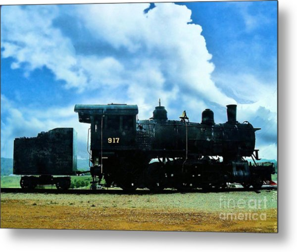 Norfolk Western Steam Locomotive 917 Metal Print