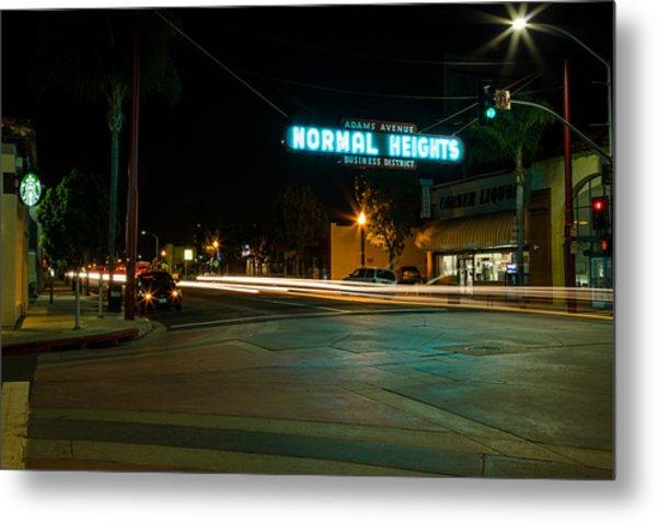 Normal Heights Neon Metal Print