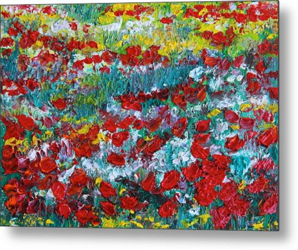 Normandy Poppy Field Dreams IIi Metal Print
