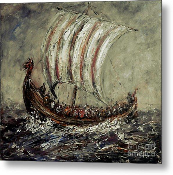 Norse Explorers Metal Print