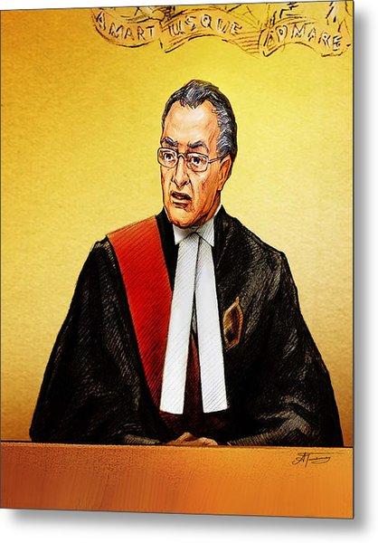 Nortel Verdict - Mr. Justice Marrocco Reads Non-guilty Ruling Metal Print