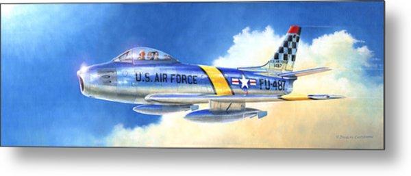 North American F-86f Sabre Metal Print