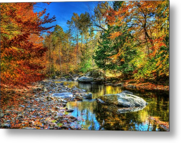 North Branch In Fall Metal Print