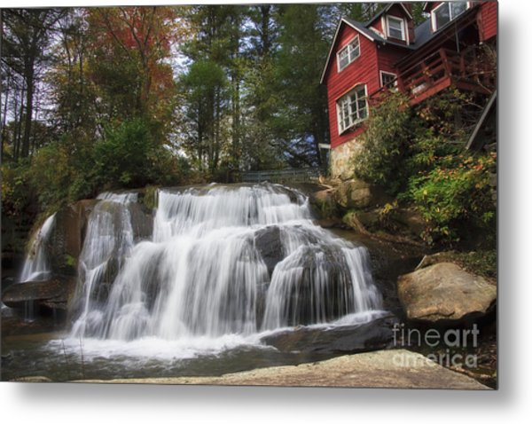 North Carolina Waterfall Metal Print