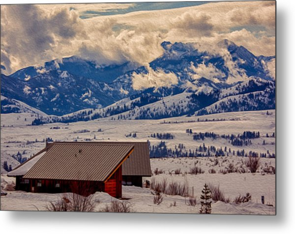 Metal Print featuring the painting North Cascades Mountain View by Omaste Witkowski