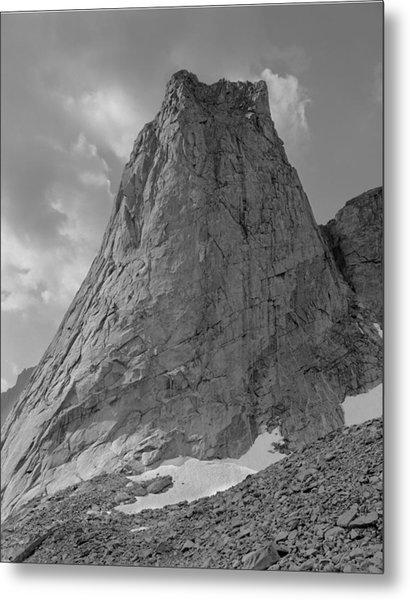 109649-bw-north Face Pingora Peak, Wind Rivers Metal Print