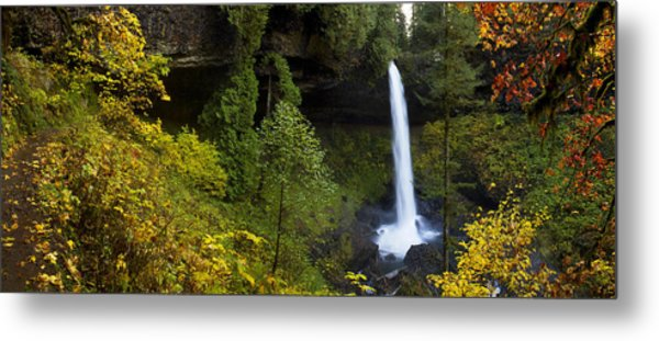 North Falls Panorama Metal Print