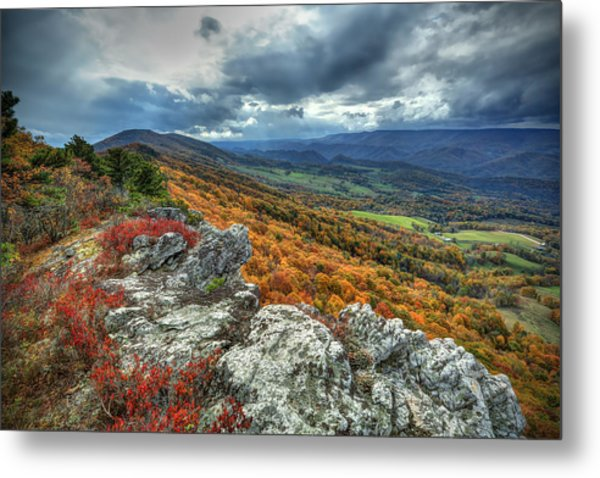 North Fork Mountain Overlook Metal Print