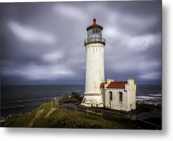 North Head Lighthouse At Sunrise Metal Print
