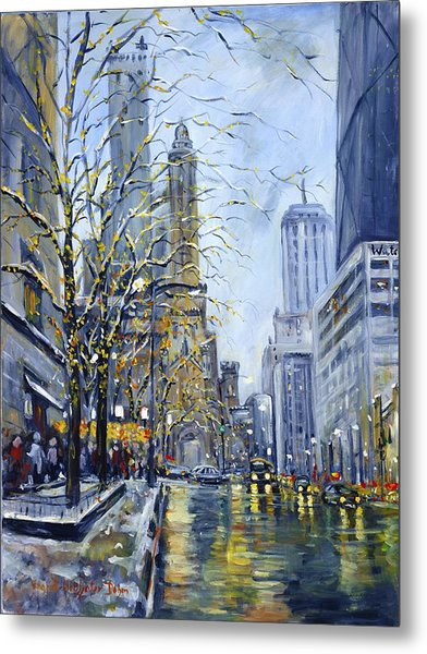 North Michigan Avenue Metal Print