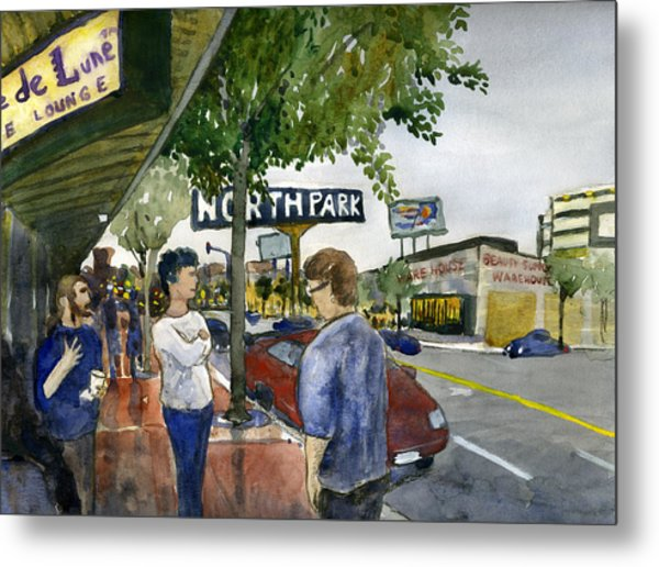 North Park Metal Print