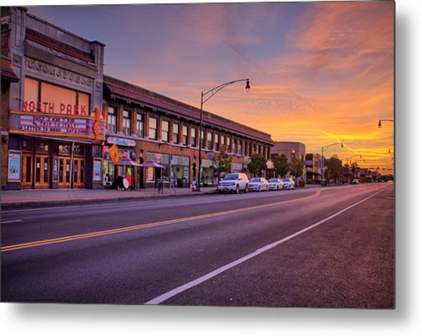 North Park Theatre Metal Print