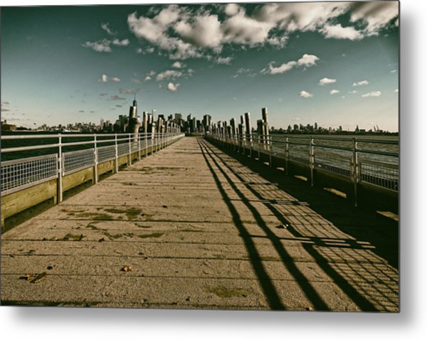 North Pier Liberty Island Metal Print