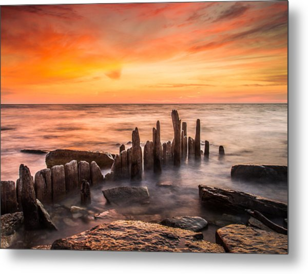 North Point Sky Metal Print