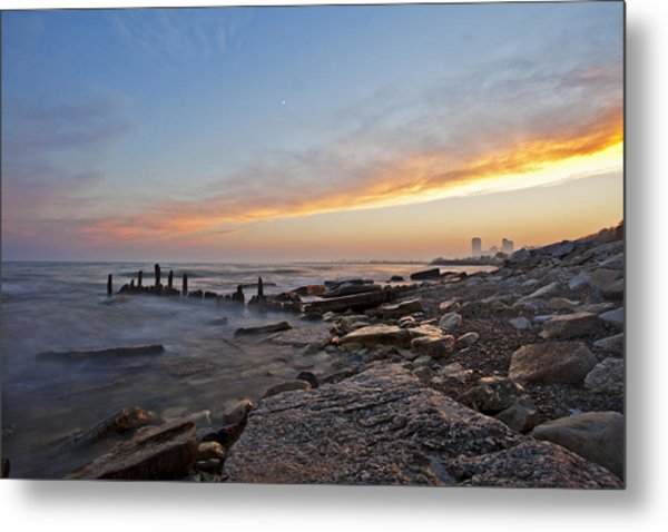 North Point Sunset Metal Print