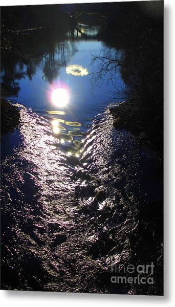 North River High Metal Print by Maria Scarfone