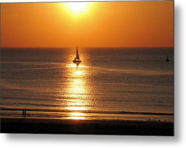 North Sea Sunset Metal Print