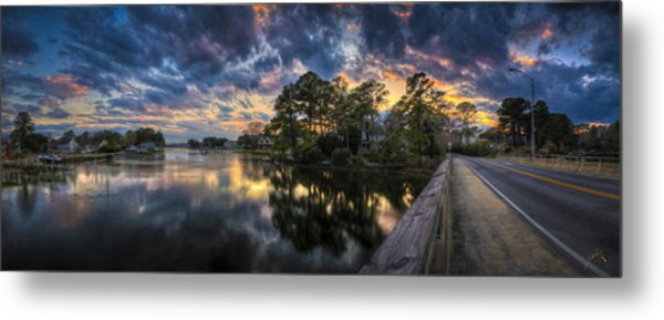 North Shore Sunset Metal Print by Williams-Cairns Photography LLC