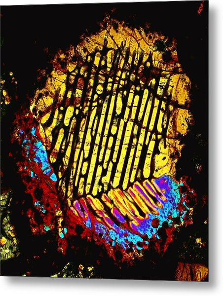 Neon Fingerprint Metal Print