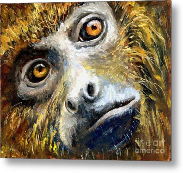 Northern Brown Howler Monkey Metal Print