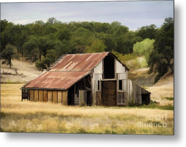 Northern California Barn Metal Print