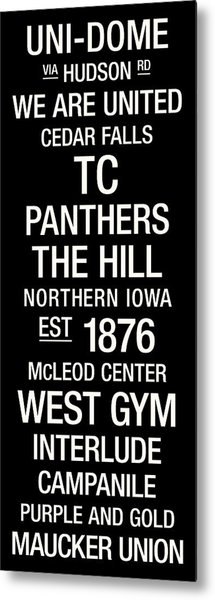 Northern Iowa College Town Wall Art Metal Print by Replay Photos
