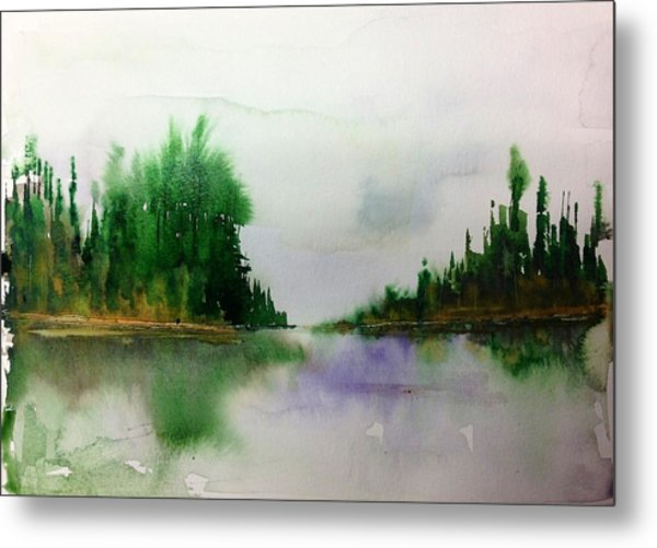 Northern Lake - Mellow Day Metal Print