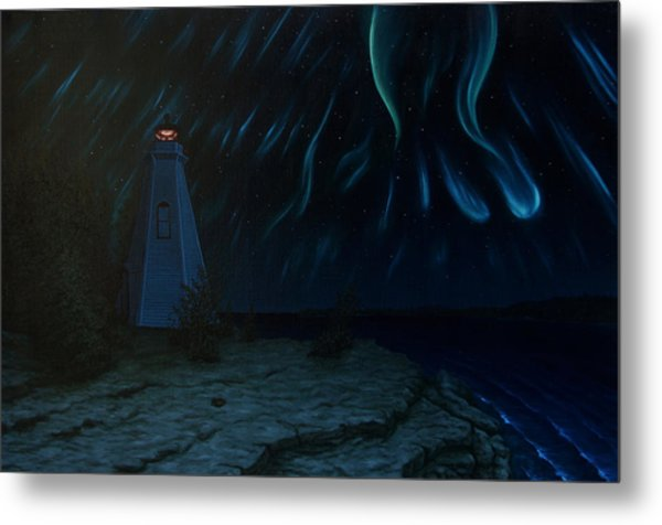 Northern Lights Tobermory Metal Print by Michael Marcotte