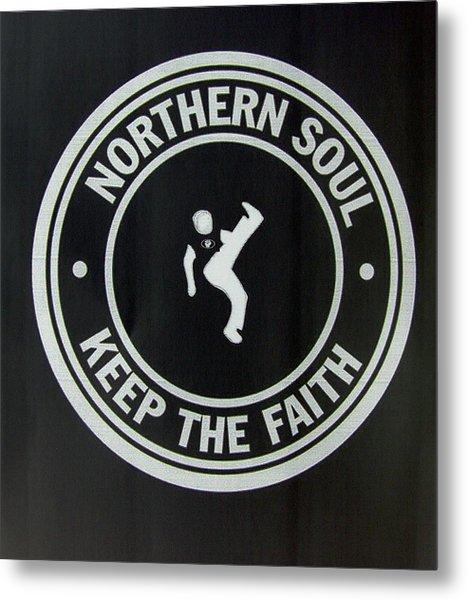 Northern Soul Dancer Inverted Metal Print
